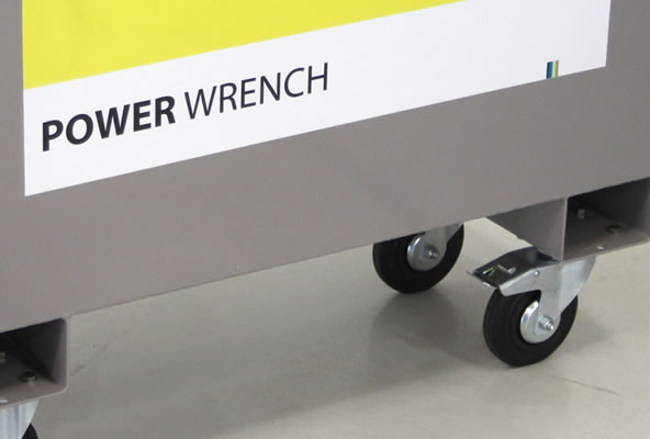 Power Wrench Storage Box wheels
