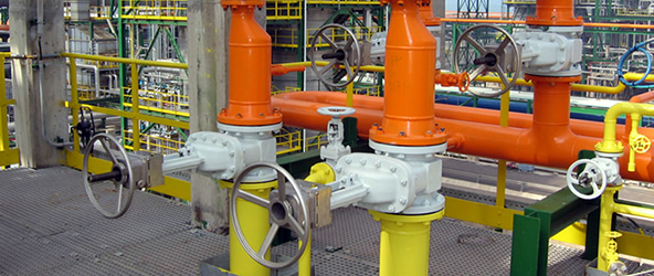 Valve interlocks installed on a PSV installation