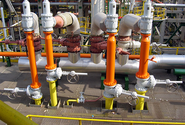 Valve interlocks installed on a PSV system