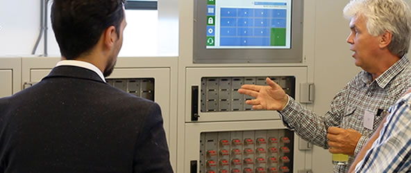 Electronic key cabinet for Statoil